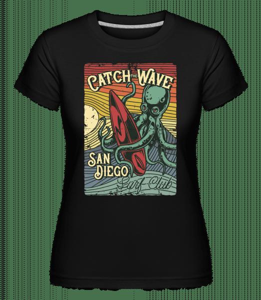 Catch Wave -  Shirtinator Women's T-Shirt - Black - Vorn