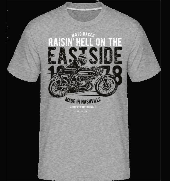 Raisin Hell Moto Racer -  Shirtinator Men's T-Shirt - Heather grey - Vorn