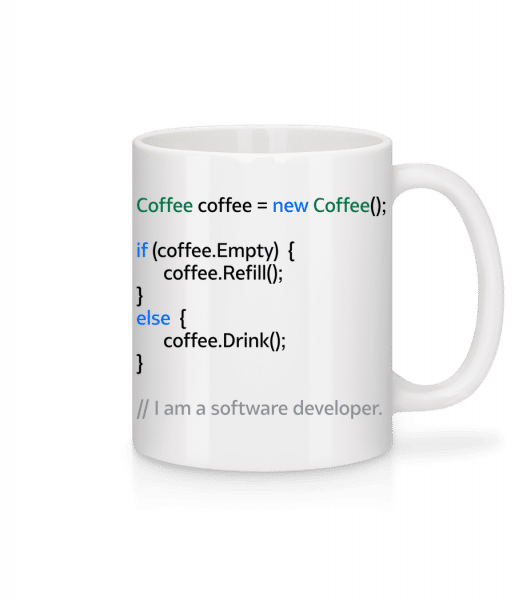Coffee Loop - Mug - White - Vorn