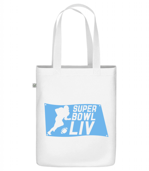 "Super Bowl flag - Organic ""Earth Positive"" tote bag - White - Front"