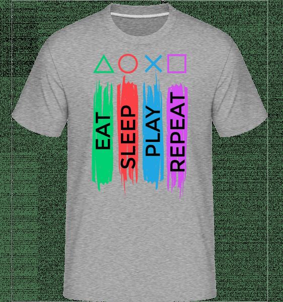 Eat Sleep Play Repeat -  Shirtinator Men's T-Shirt - Heather grey - Vorn