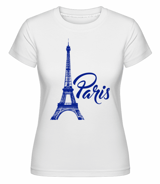 Paris France Blue -  T-shirt Shirtinator femme - Blanc - Vorn