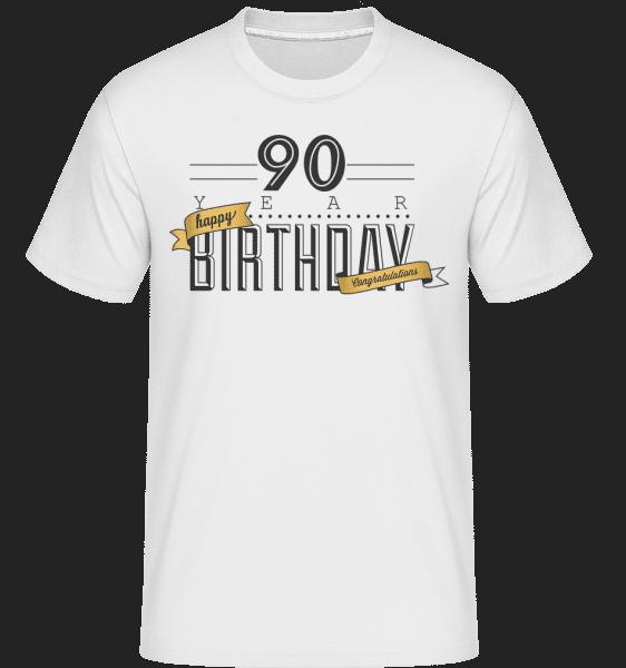 90 Birthday Sign -  Shirtinator Men's T-Shirt - White - Vorn