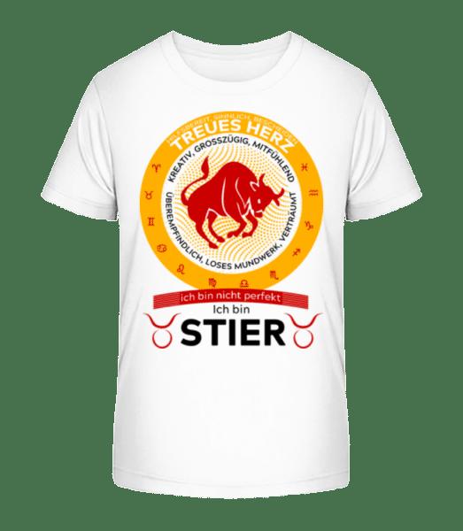 Sternzeichen stier - Kinder Premium Bio T-Shirt - Weiß - Vorn