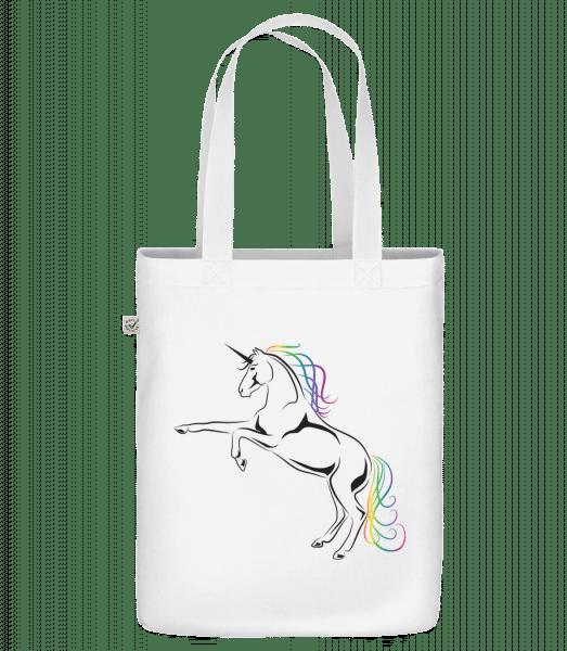 Einhorn - Bio Tasche - Weiß - Vorn