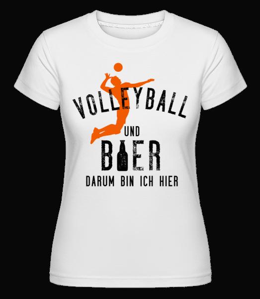 Volleyball Und Bier - Shirtinator Frauen T-Shirt - Weiß - Vorn