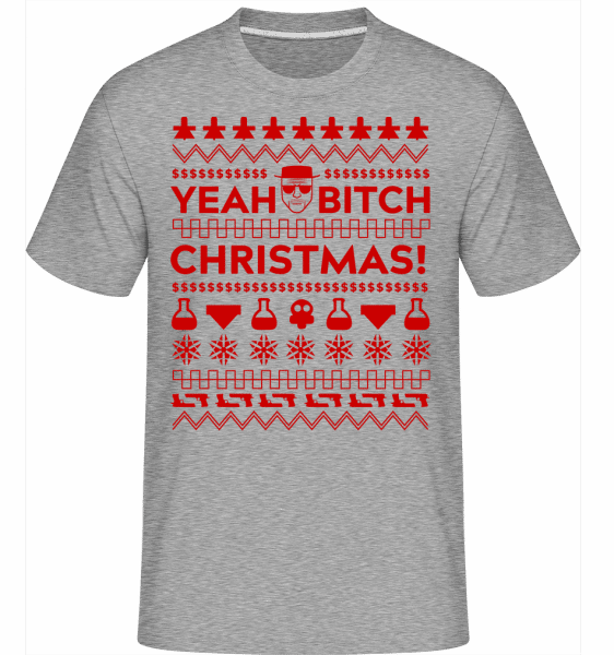 Yeah Bitch Christmas -  Shirtinator Men's T-Shirt - Heather Grey - Vorn