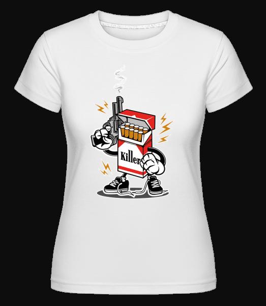 Cigarette Killer -  Shirtinator Women's T-Shirt - White - Vorn