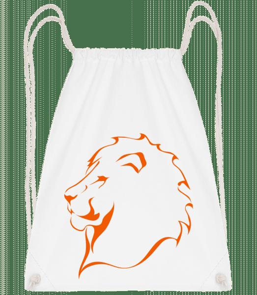Löwe - Turnbeutel - Weiß - Vorn