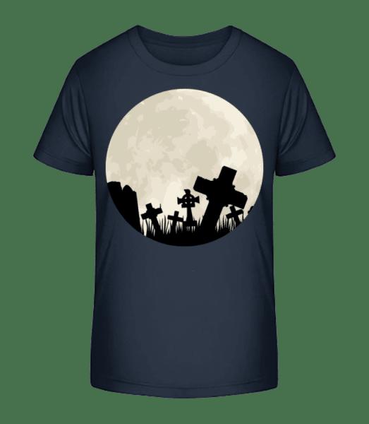 Gothic Scenery Circle - Kid's Premium Bio T-Shirt - Navy - Vorn