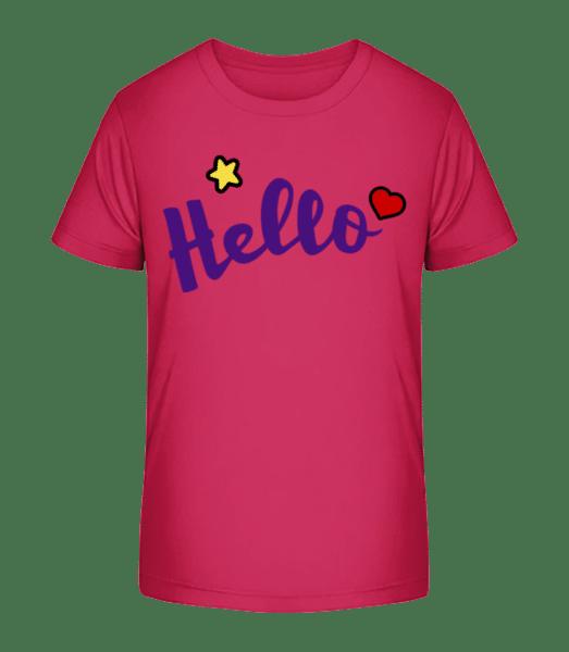 Hello Sign Purple - T-shirt bio Premium Enfant - Magenta - Vorn