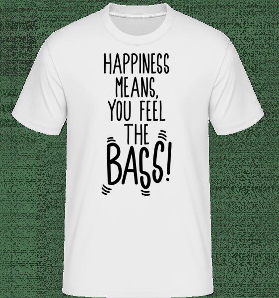 Feel The Bass -  Shirtinator Men's T-Shirt - White - Vorn