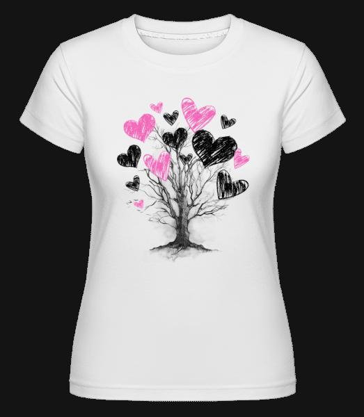 Abre De Cœur -  T-shirt Shirtinator femme - Blanc - Devant