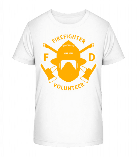 Firefighter Volunteer - Kid's Premium Bio T-Shirt - White - Vorn