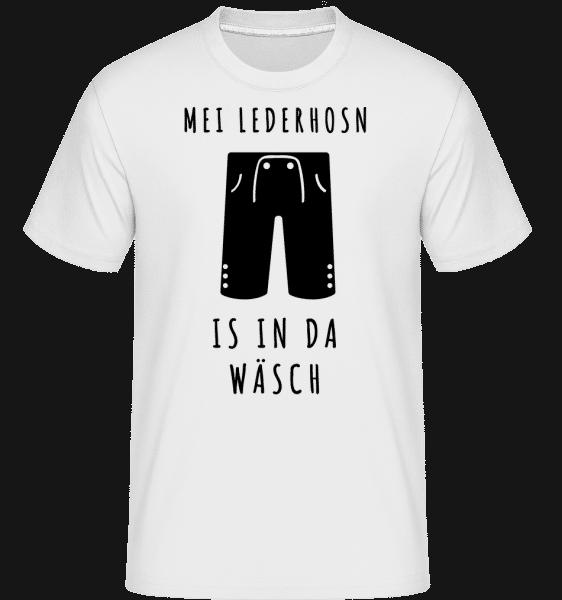 Lederhosn Is In Da Wäsch - Shirtinator Männer T-Shirt - Weiß - Vorn