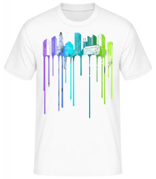 Graffiti City - Men's Basic T-Shirt - White - Front