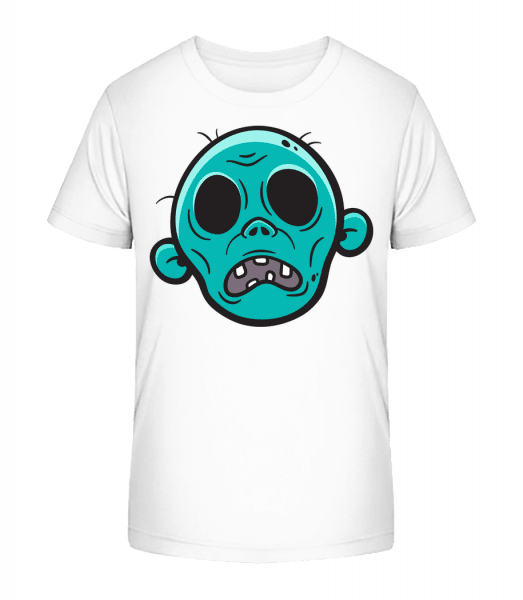 Zombie without Eyes - Kid's Premium Bio T-Shirt - White - Front