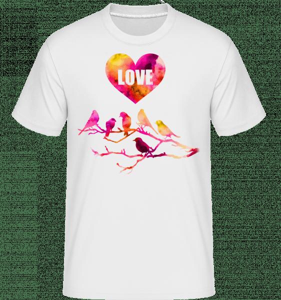 Birds Love -  Shirtinator Men's T-Shirt - White - Vorn