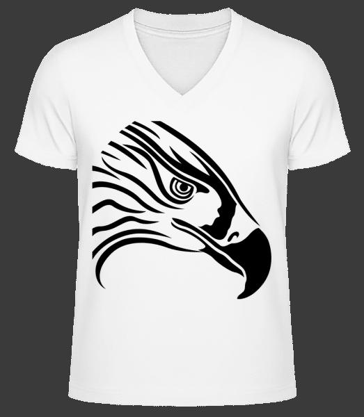 Bird - Men's V-Neck Organic T-Shirt - White - Vorn