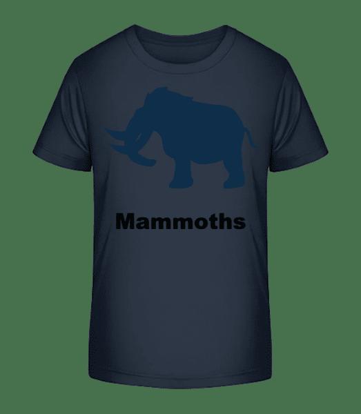 Mammoths - T-shirt bio Premium Enfant - Bleu marine - Vorn