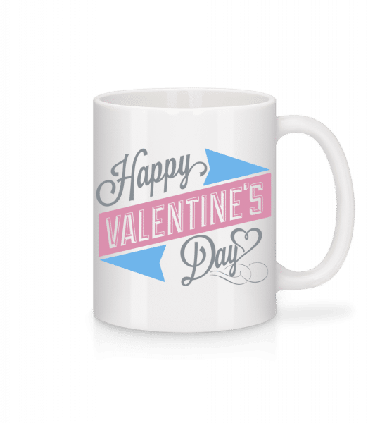Happy Valentine's Day - Tasse - Weiß - Vorn
