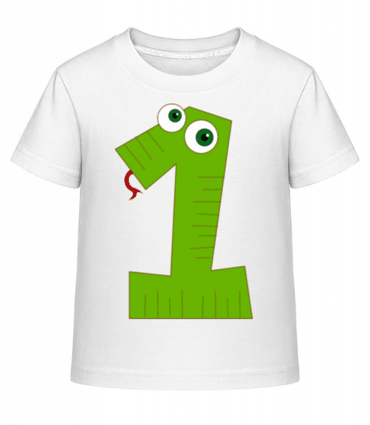 Snake One - Kid's Shirtinator T-Shirt - White - Front