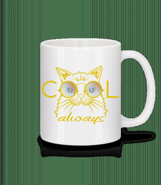 Cool Cat - Mug - White - Vorn