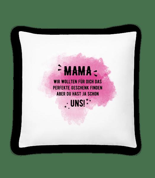 Mama already have us - Cushion - White - Vorn