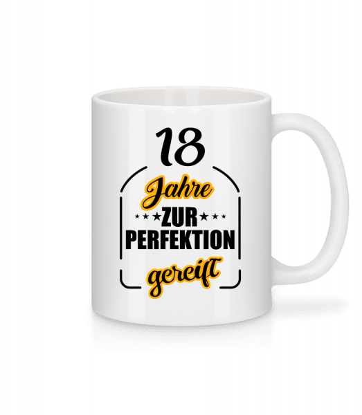 18 Jahre Gereift - Tasse - Weiß - Vorn