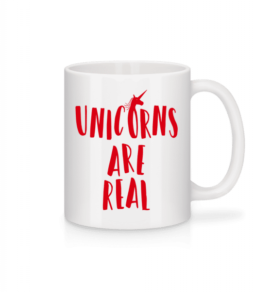 Unicorns Are Real - Tasse - Weiß - Vorn