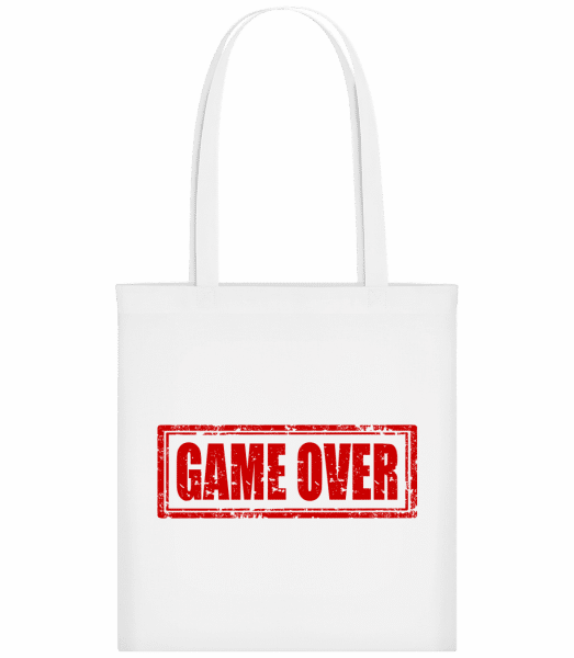 Game Over Sign Red - Stoffbeutel - Weiß - Vorn