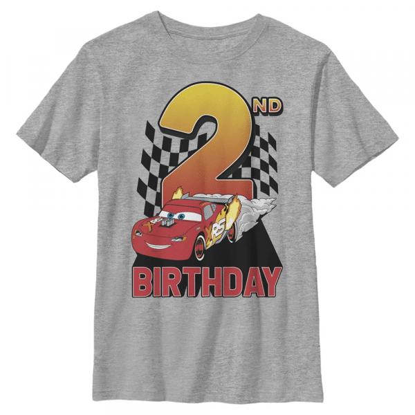 Lightning Birthday 2 Lightning McQueen - Pixar Cars 1-2 - Kids T-Shirt - Heather grey - Front