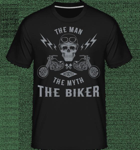The Man The Myth The Biker -  Shirtinator Men's T-Shirt - Black - Vorn