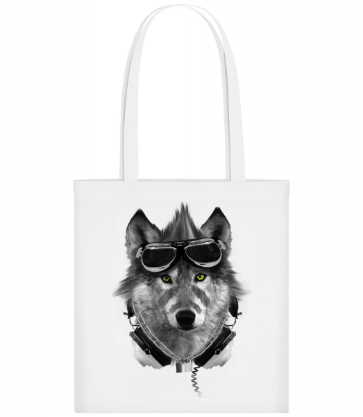 Biker Wolf - Carrier Bag - White - Vorn