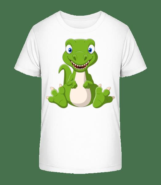 Naughty Dinosaur - Kid's Premium Bio T-Shirt - White - Front