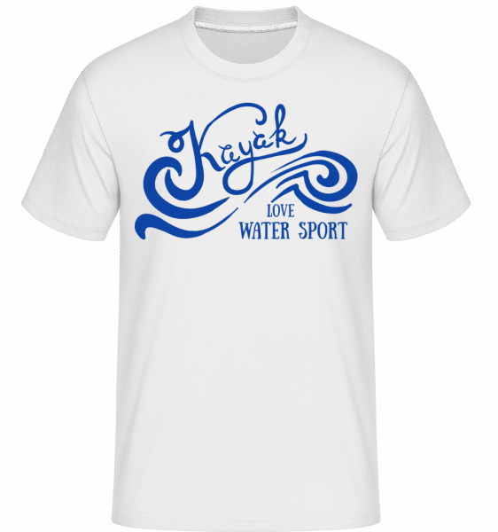 Kayak Logo Blue -  Shirtinator Men's T-Shirt - White - Front