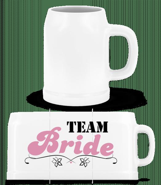 Team Bride - Beer Mug - White - Vorn