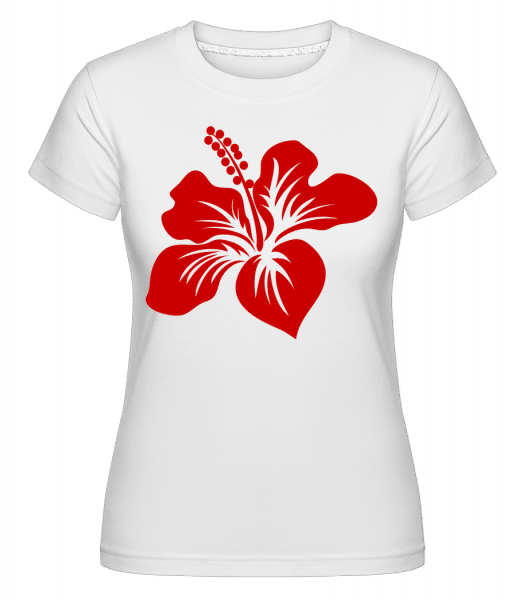 Flower Comic Red - Shirtinator Frauen T-Shirt - Weiß - Vorn