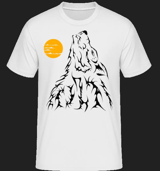 Gothic Wolves Black -  T-Shirt Shirtinator homme - Blanc - Vorn