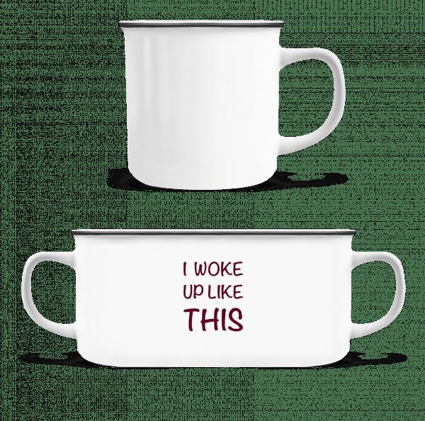 I Woke Up Like This - Enamel-cup - White - Vorn
