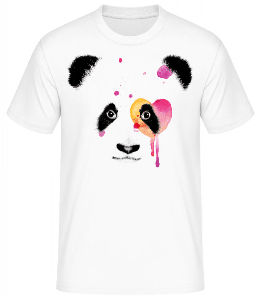 Watercolor Panda - Men's Basic T-Shirt - White - Vorn