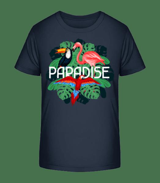 Paradise Icon - Kid's Premium Bio T-Shirt - Navy - Front