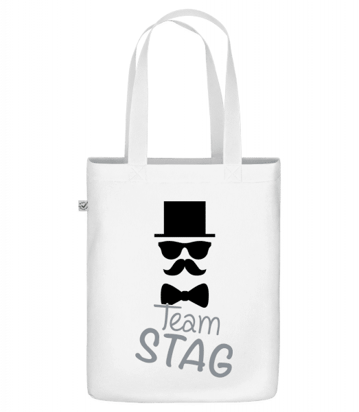Team Stag - Mustache - Sac en toile bio Earth Positive - Blanc - Vorn
