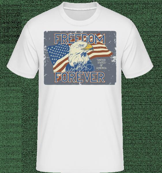 Freedom Forever -  Shirtinator Men's T-Shirt - White - Front