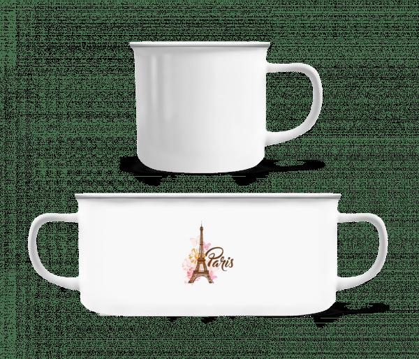Paris France Brown - Enamel-cup - White - Vorn