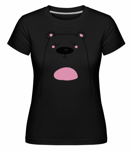Cute Bear -  Shirtinator Women's T-Shirt - Black - Vorn