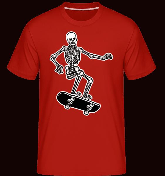 Skull Skateboard -  Shirtinator Men's T-Shirt - Red - Front