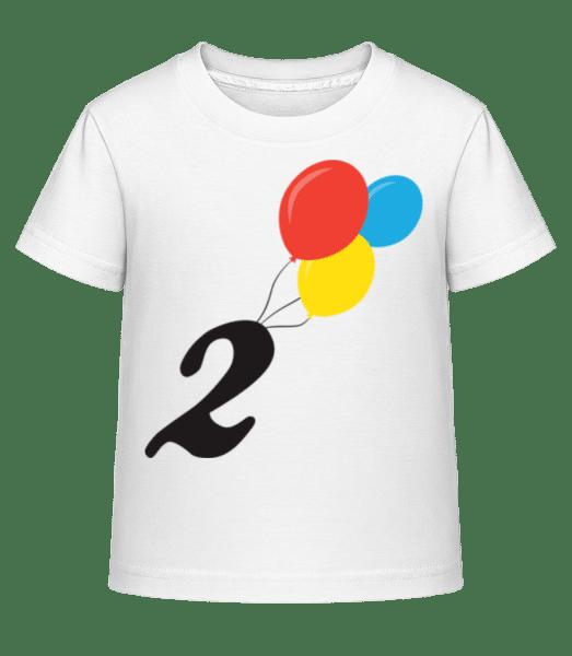Anniversary 2 Balloons - Kid's Shirtinator T-Shirt - White - Front