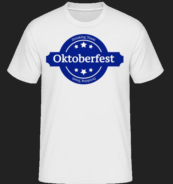 Pití Team Oktoberfest -  Shirtinator tričko pro pány - Bílá - Napřed