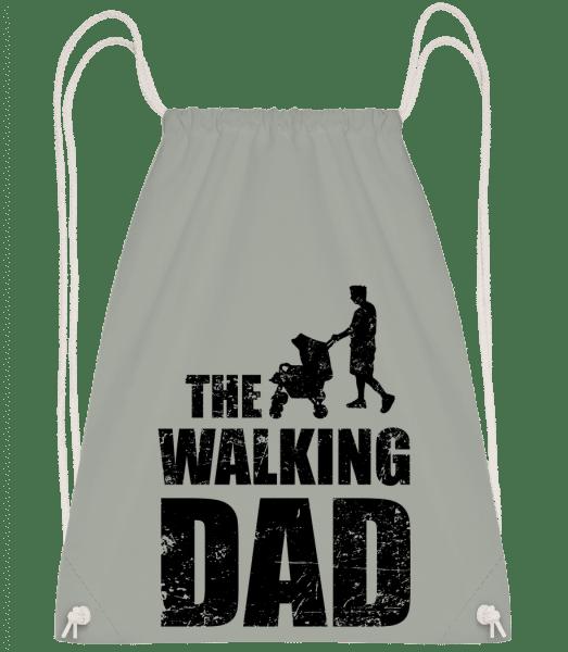 The Walking Dad - Drawstring Backpack - Anthracite - Vorn